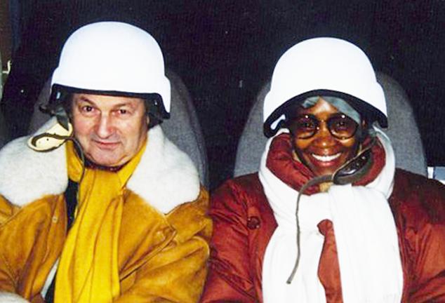 De gauche à droite: Michel Tabachnik, Barabara hendricks