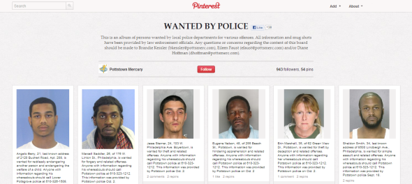 "Pinterest ""Wanted by Police"""